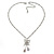 Butterfly Pendant with Double Chain In Silver Tone - 37cm L/ 8cm Ext - view 3