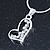 Open Heart Crystal Pendant With Silver Tone Snake Chain - 40cm Length/ 4cm Extension - view 5