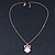 Crystal, Glittering Owl Pendant With Gold Tone Chain - 42cm Length - view 5