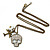 Crystal Skull, Plane Pendant With Long Bronze Tone Chain - 80cm L - view 3