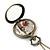 Antique Bronze Tone Big Ben & Roses Motif Quartz Pocket Watch Pendant Necklace - 45mm D/ 80cm L - view 9