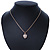 Gold Tone Crystal Heart Pendant With Snake Chain - 38cm Length/ 6cm Extension - view 6