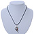 Multi Crystal Parrot Pendant With Black Leather Cord In Burnt Silver Tone - 40cm L/ 4cm Ext - view 4
