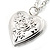 Medium Silver Tone Heart with Rose Motif Locket Pendant - 44cm L/ 6cm Ext - view 3
