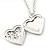 Medium Silver Tone Heart with Rose Motif Locket Pendant - 44cm L/ 6cm Ext - view 4