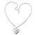 Medium Silver Tone Heart with Rose Motif Locket Pendant - 44cm L/ 6cm Ext - view 5