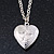 Small Silver Tone Heart with Double Heart Motif Locket Pendant - 40cm L/ 7cm Ext - view 2