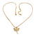 Small Crystal Butterfly Pendant With Gold Tone Snake Chain - 40m Length/ 5cm Extension - view 4