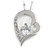 Romantic Crystal Open Heart Pendant with Silver Tone Chain - 41cm L/ 4cm Ext - view 1