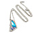 Sky Blue/ Amethyst/ Clear Crystal Butterfly Pendant wiht Silver Tone Chain - 42cm L/ 5cm Ext - view 4