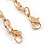 Clear Crystal Heart Pendant with Long Chunky Chain In Gold Tone Metal - 70cm L - view 7