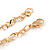 Statement Crystal Key Pendant with Long Chunky Chain In Gold Tone - 70cm L - view 7
