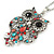 Multicoloured Beaded Owl Pendant with Long Chain In Silver Tone - 70cm L/ 5cm Ext - view 3