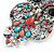 Multicoloured Beaded Owl Pendant with Long Chain In Silver Tone - 70cm L/ 5cm Ext - view 4
