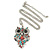 Multicoloured Beaded Owl Pendant with Long Chain In Silver Tone - 70cm L/ 5cm Ext - view 2