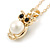 Small Owl Pendant with Gold Tone Chain - 42cm L/ 5cm Ext - view 4