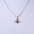 Cute Small Clear Crystal, Yellow/ Black Enamel Bee Pendant with Silver Tone Snake Chain - 40cm L/ 4cm Ext - view 7