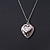 Small Double Heart Clear Crystal Locket Pendant with Silver Tone Chain - 40cm L/ 5cm Ext - view 3