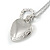 Small Double Heart Clear Crystal Locket Pendant with Silver Tone Chain - 40cm L/ 5cm Ext - view 7