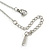 Small Double Heart Clear Crystal Locket Pendant with Silver Tone Chain - 40cm L/ 5cm Ext - view 8