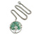 'Tree Of Life' Open Round Pendant Jade Semiprecious Stones with Silver Tone Chain - 44cm - view 4