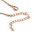 Small Cute 'Bee' Pendant Necklace In Rose Gold Tone Metal - 40cm Length & 4cm Extension - view 5