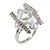 Square Cut Style Clear Crystal Fashion Ring