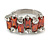 Fashion Baguette-Cut Maroon Cocktail Ring - view 2