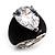Pear-Cut Clear Swarovski Crystal Fashion Ring - view 3