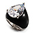 Pear-Cut Clear Swarovski Crystal Fashion Ring - view 9