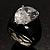 Pear-Cut Clear Swarovski Crystal Fashion Ring - view 10