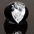 Pear-Cut Clear Swarovski Crystal Fashion Ring - view 2