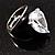 Pear-Cut Clear Swarovski Crystal Fashion Ring - view 4