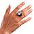 Pear-Cut Clear Swarovski Crystal Fashion Ring - view 7