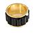 Black Plastic Broad Band Costume Ring