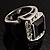 Emerald-Cut Black CZ Wide Band Fashion Ring - view 9