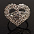 Clear Crystal Heart Ring - view 8