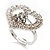 Clear Crystal Heart Ring - view 3