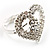 Clear Crystal Heart Ring - view 13