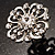Rhodium Plated Clear Flower Cocktail Ring - view 10