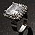 Princess-Cut Clear Crystal Ring (Silver-Tone) - view 7