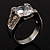 Brilliant-Cut Crystal Clear CZ Solitaire Ring - view 3