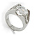 Brilliant-Cut Crystal Clear CZ Solitaire Ring - view 2