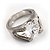 Brilliant-Cut Crystal Clear CZ Solitaire Ring - view 7