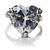Clear Crystal Heart Ring - view 4