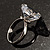 Clear Crystal Heart Ring - view 9