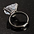 Clear Crystal Heart Ring - view 7