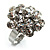Clear Crystal Cluster Ring - view 8