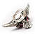 Vintage Pink Heart And Wings Cocktail Ring (Antique Silver) - view 9