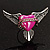 Vintage Pink Heart And Wings Cocktail Ring (Antique Silver) - view 3